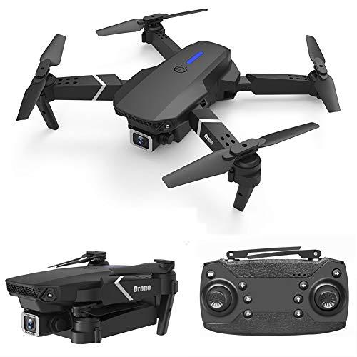 LYHLYH Drone GPS avec 4K Double caméra Pixel Drone de Commande à Distance, 15 Minutes d'autonomie avec Le Mode de vol latéraux LED pour Drones Adultes,Noir