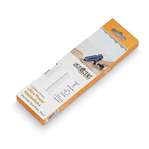 Steinel Ultra Power Lot de 5 bâtons de colle pour pistolet à colle chaude 11 mm 60 g