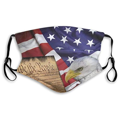 Comfortable Adjustable American Flag Patriotic USA Bald Eagle And Book Printed Facial Decorations For Women And Men-Us America Flag halloween mask