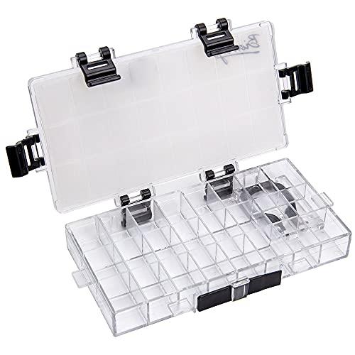 IWILCS Kunststoff Aquarell Box,Leer Aquarell-Palette Box, Luftdicht Aquarell Palette Gelten Maler, Studenten, für Aquarell Gouache Ölgemälde Acryl(24-Well)