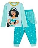 Disney Pijama largo de princesa Jasmine para niñas Verde jazmín 5-6 Años