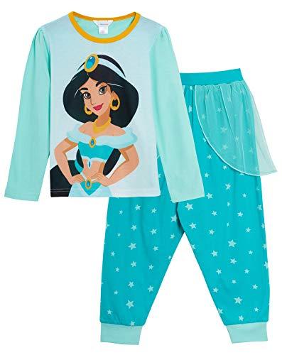 Disney Pijama largo de princesa Jasmine para niñas Verde jazmín 4-5 Años