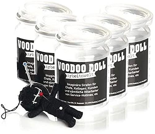 5er-Pack: Voodoo Doll in Dose   lustige Mini-Voodoo-Puppe to go   ARBEITSWELT Voodoo-doll   imaginäre Strafen für