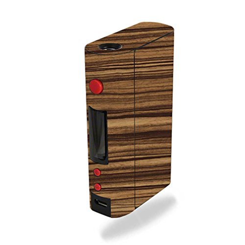 MightySkins Skin Compatible with Kanger KBOX 200W – Dark Zebra Wood | Protective, Durable, and Unique Vinyl Decal wrap Cover | Easy to Apply, Remove, and Change Styles | Made in The USA