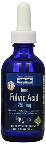 Trace Minerals Liquid Ionic Fulvic Acid with ConcenTrace, 250 mg, 59mL