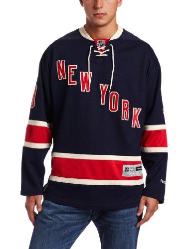 Reebok NHL New York Rangers Herren Trikot #18 Marc Stall Edge Premier Player Jersey, Herren, Navy, Small