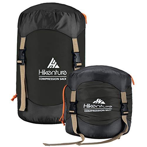 Hikenture Compression Sack for Sleeping Bag, Upgrade 2.0 Anti-Tear Nylon Sleeping Bag Stuff Sack, 10L/14L/20L/30L Water-Resistant Compression Bag, Storage Bag for Camping, Hiking, Backpacking, Outdoor