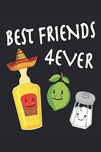 Best Friends Forever Tequila Salz Zitrone Limette Fiesta Mexiko: Notizbuch - Notizheft - Notizblock - Tagebuch - Planer - Kariert - Karierter Notizblock- 6 x 9 Zoll (15.24 x 22.86 cm) - 120 Seiten