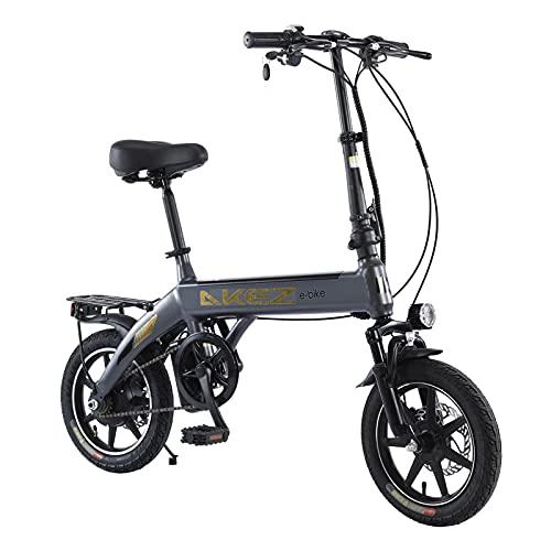 Bicicleta eléctrica Plegable para Adultos, Hombres y Mujeres, 14