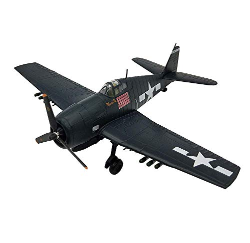 JHSHENGSHI 1/72 Scale Fighter Plastic Model, Military F6F Hellcat Fighter Adult Collectibles And Gifts, 8.7Inch X6.3Inch