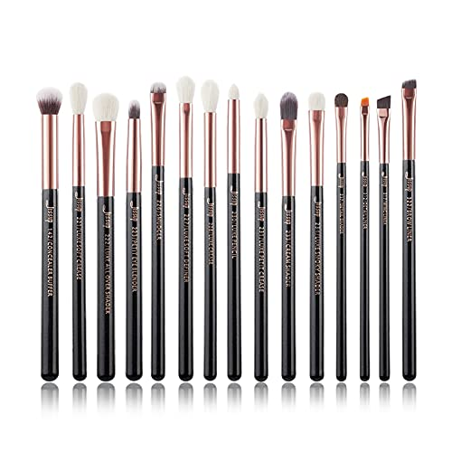 YDL Cepillos De Maquillaje Set 15pcs Professional Eye Shadow Maquillaje Pincel Kits De Ojos Eyeshadow Eyeliner Mezcla Ceja (Color : G6 T157 15PCS)