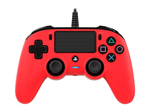 Nacon Compact Controller PS4 Ufficiale Sony PlayStation, Rosso