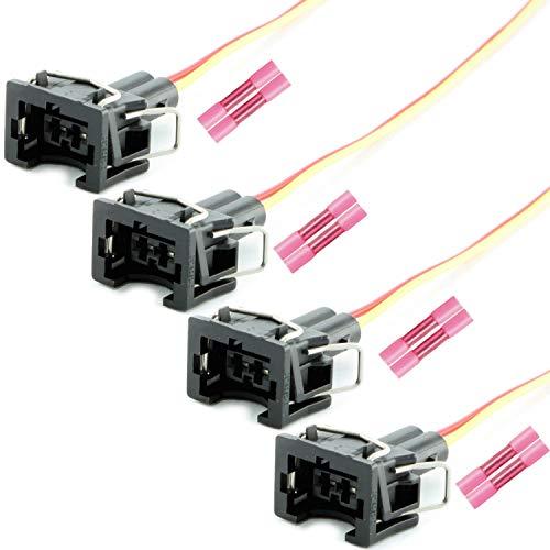 Overdrive-Racing 4x Reparatur Stecker Kabel Einspritzdüse Einspritzventil Universalstecker Passend Für Bosch EV1 037906240 037 906 240