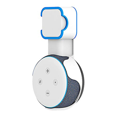Maxesla Wandhalterung Halterung Ständer für Echo Dot (3 Gen.), Für Home Voice Assistants Dot 3nd Generation mit Kabelanordnung Keine Chaotische Drähte, für Küche, Badezimmer, Schlafzimmer, (Weiß)
