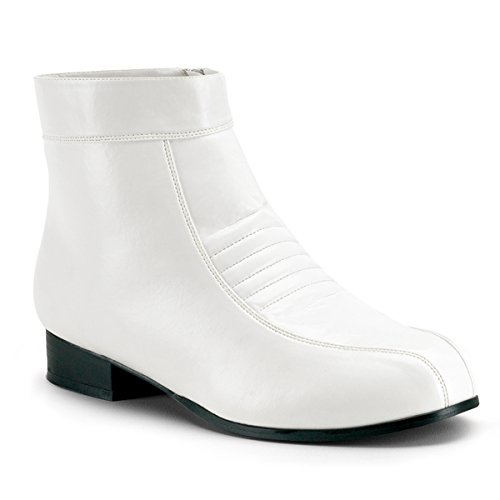 Mens Ankle Boots White Large Fancy Dress