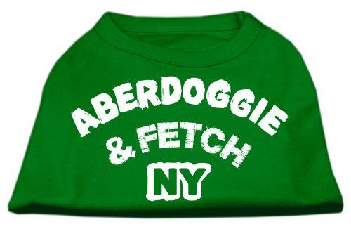 Mirage Pet Products Aberdoggie NY Screenprint - Camisas, tamaño Mediano