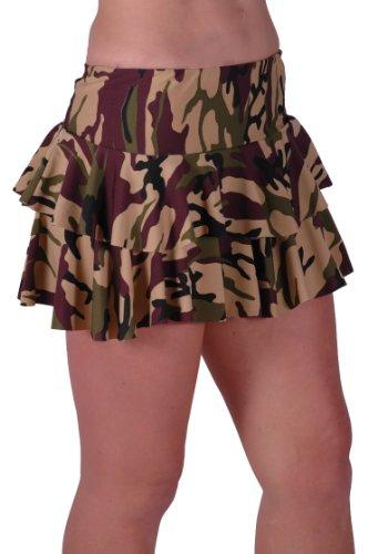 Eye Catch TM - Annie Armee Rüschen Camouflage Short-Club Damen Mini Rock S/M