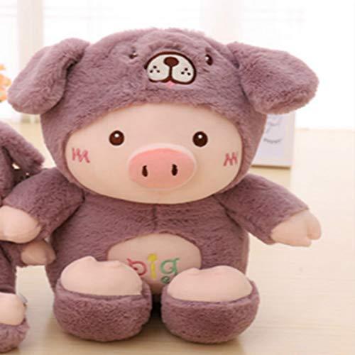 zcm Bambola di Peluche 30 Cm Kawaii Pig Stuffed Plush Doll Cosplay Cat & Bear & Dog Toy Baby Soft Animal Pig Pillow Niños Niña Cumpleaños