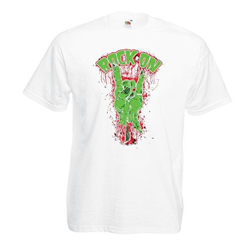 Camisetas Hombre ¡Símbolo del Metal de la Mano del Zombi! Signo de los Cuernos