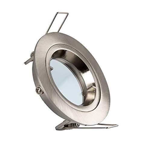 Aro Downlight Circular Plata para Bombilla LED GU10 / GU5.3 (Plata)