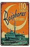 Letrero de metal vintage con diseño de Bósforo, Estambul, retro, para garaje, casa, cafetería, bar, club, hotel, decoración de pared, 30,5 x 20,3 cm