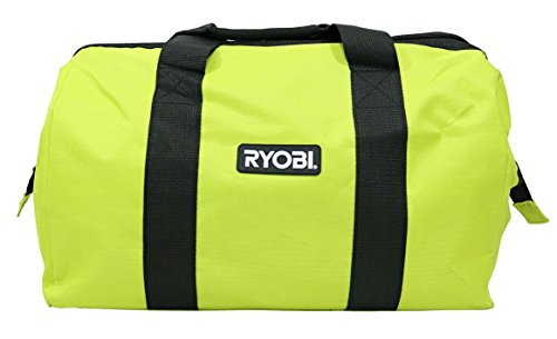 Ryobi One Contractors Canvas Green Wide-Mouth Tool Bag by Ryobi