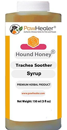 PawHealer Jarabe de tráquea de Miel con remedio Herbal Natural para los síntomas de la tráquea colapsada 150 ml (5 FL oz)