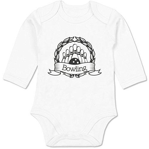 Shirtracer Sport Baby - Bowling Lorbeerkranz - 3/6 Monate - Weiß BZ30 - Baby Body Langarm