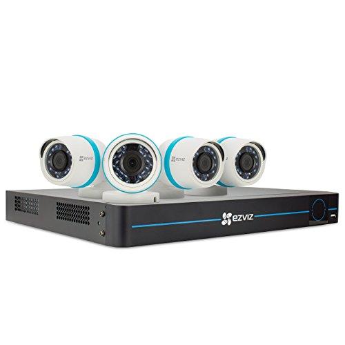 EZVIZ FULL HD 1080p Outdoor IP PoE Surveillance System, 4 Weatherproof HD Security Cameras, 8...