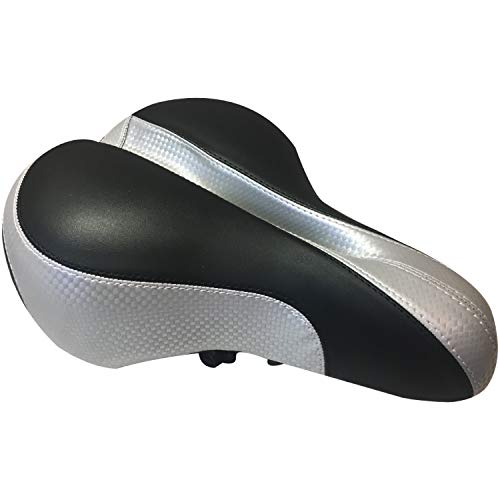 MyProDynamics Bike Seat Bicycle Saddle Comfortable Wide Soft, Padded Cush for Your Tush, Ergonomic Design, Suited for Road, Mountain, BMX, Touring - Universal Mount - Replacement Seat