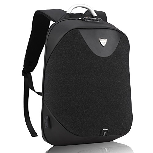 """Arctic Hunter Design- Anti Theft Backpack,Waterproof Travel Backpack with Lock, Slim College School Computer Bag with USB Charging Port Fits 15.6"""" Laptop Notebook, Business Laptop Backpack"""