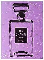 ポスター アーティスト不明 Chanel Purple Urban Chic 額装品 アルミ製ハイグレードフレーム(ホワイト)