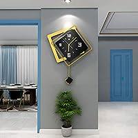 スタイリッシュ ホーム装飾 ベッドルームオフィスキッチン用,広場 振り子時計 サイレント,掛け時計 リビングルームの装飾用-B 50x67cm(20x26inch)