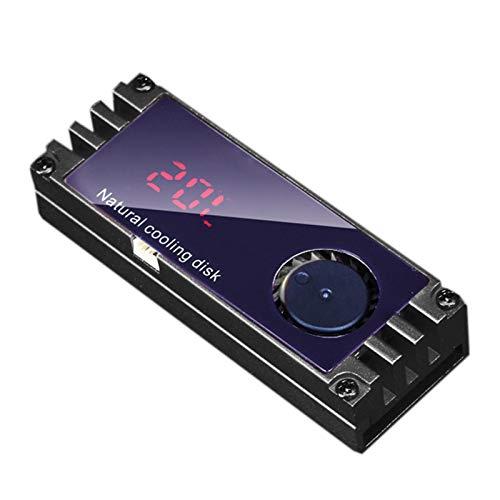 M.2 Ventilador De Refrigeración SSD Pantalla OLED Disipador De Calor para Disco Duro, Caja Ventilador De Incorporado E Interruptor De Protección contra Escritura Potente Refrigeración SSD para NVME