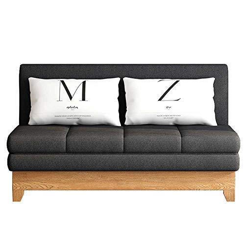 RSTJ-Sjcw Cabrio-Sofa-Schlafcouch, einschließlich Ausziehbett und 2 Lendenkissen, Kompaktes Schlafsofa für Wohnzimmer oder Schlafzimmer,Schwarz,1.95m