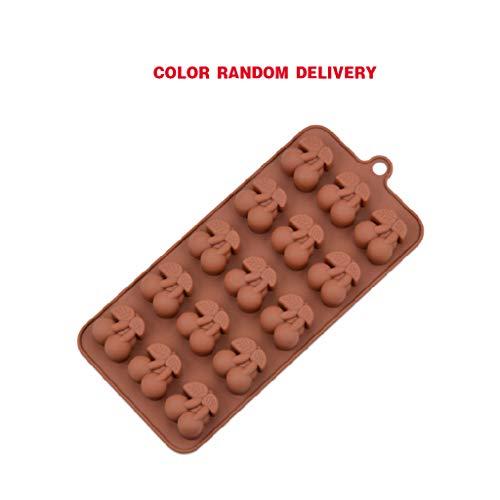 Yintiod 15 holle kersen siliconen fondant cake Sugarcraft chocoladevorm maken snoepgoed vorm DIY bakgereedschap