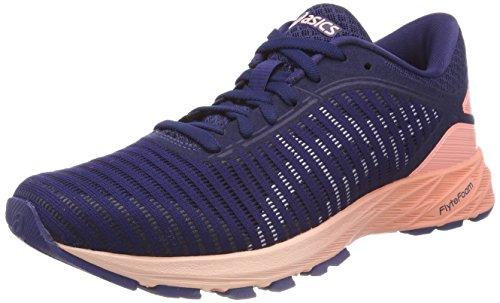 Asics Dynaflyte 2, Zapatillas de Entrenamiento para Mujer, Blanco (White/Safety Yellow/Aruba Blue 4901), 40.5 EU