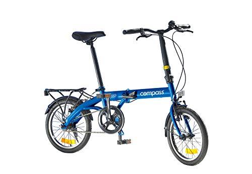 Compass Faltrad 16 Zoll Stahl blau, Klapprad, Klappfahrrad, leicht und robust Farbe blau
