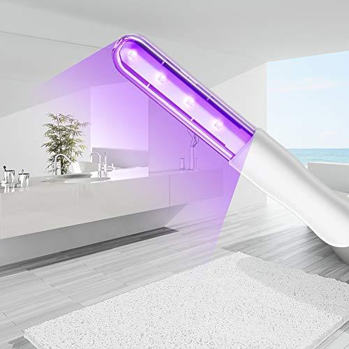Auelife UV Desinfektion Lampe, Tragbare UV Sterilisator Lampe mit USB-Aufladung Handgehaltene UVC Stab Desinfektionslampe Sterilisationsrate von 99,9%, für Heim, Hotel, Toilette, Autositz