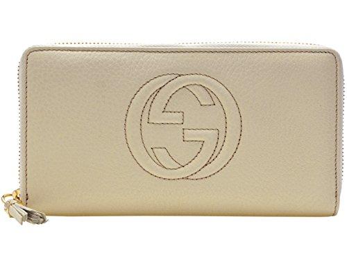 (グッチ) GUCCI 財布 サイフ ソーホー ラウンドファスナー長財布 オフホワイト レザー 308004a7m0g9022 ブランド レディース 並行輸入品
