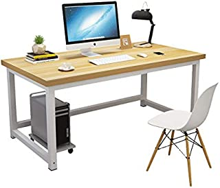 Computer Desk,120cm Large Office Desk Computer Table with 2.5cm Thicker Tabletop Modern Simple Style Table Sturdy Writing ...
