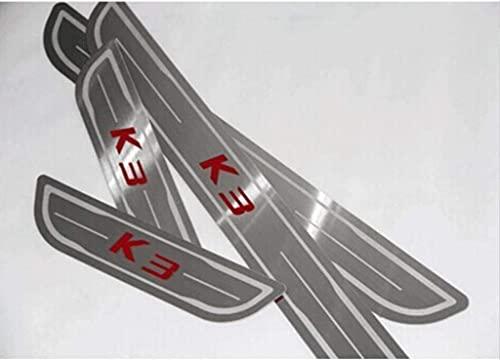Protector De Umbral De Puerta De Coche De Acero Inoxidable De 4 Piezas, Protector De Desgaste De Pedal Antideslizante DecoracióN De Estilo AutomáTico, Para Kia K3
