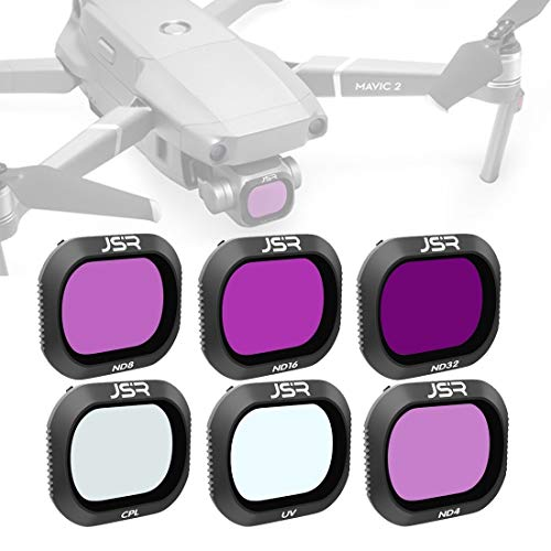 JINGZ Drone 6 in 1 UV+CPL+ND4+ND8+ND16+ND32 Lens Filter for DJI Mavic 2 Pro Durable