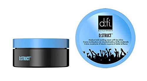 New D:fi D:Struct Medium Hold Molding Cream Low Shine 75g by DFI