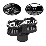 lebogner Car Cup Holder Expander, 2 in 1 Cup Adapter Organizer Stand with an Expandable Bracket for A Snug Fit, Or Movable, Detachable Base, Multifunctional Bottle Holder Extender for Coffee & Drinks