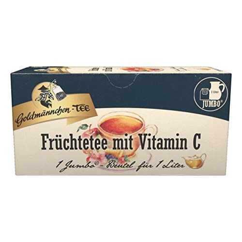 Jumbo Tea Goldmännchen fruits with Vitamin C Fruit Tea, 20 Tea Bags, Large - 3114