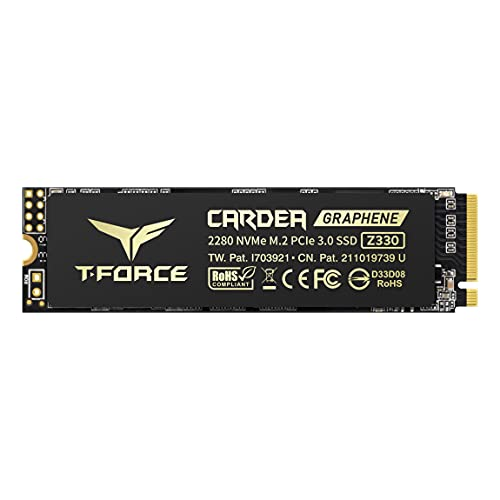 TEAMGROUP T-FORCE CARDEA ZERO Z330 2TB with SLC Cache Graphene Copper Foil 3D NAND TLC NVMe PCIe Gen3 x4 M.2 2280 Gaming Internal SSD (Read/Write 2,100/1,600 MB/s) for Laptop & Desktop TM8FP8002T0C311