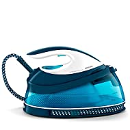 Philips PerfectCare Compact Steam Generator Iron with 400g steam Boost, 2400 W, Blue & White - GC784...