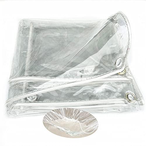 HAI RONG Lonas claras Tarpaulina Transparente, Resistencia a Prueba de Agua a Prueba de Agua a Prueba de Agua, Espesor de Aislamiento 0.3mm para fábrica de Granja al Aire Libre Tabletas de plástico