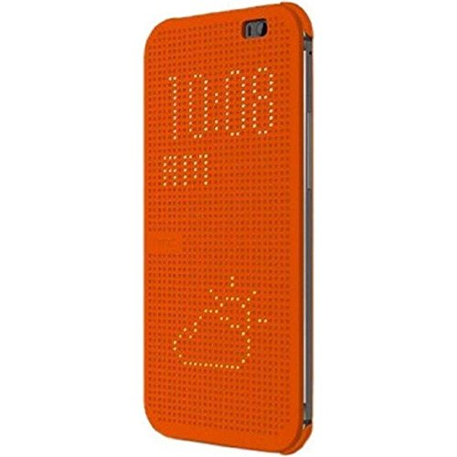 HTC Protective Dot View Clip-On Folio Flip Case Cover for HTC One (M8) - Black